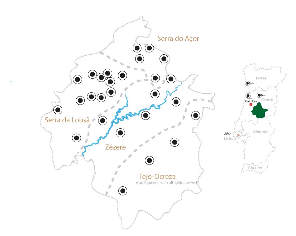 schist villages portugal map