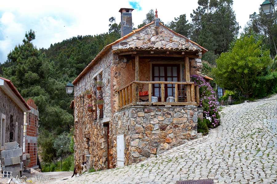 schist village house