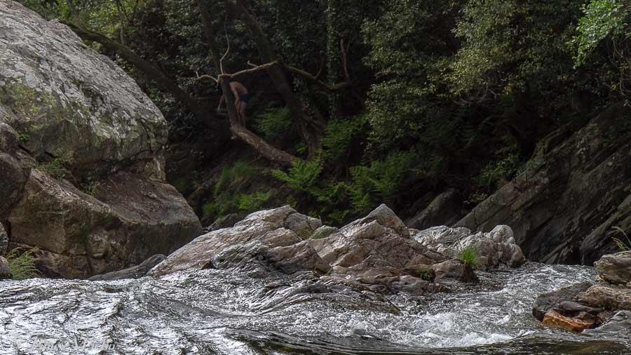 water flowing in the schist villages