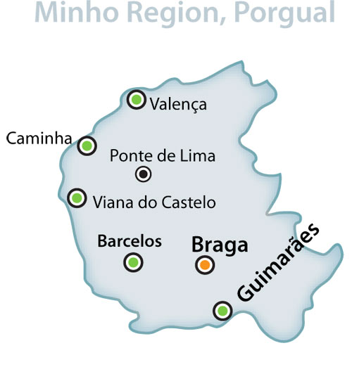 Minho Map Wandering Portugal